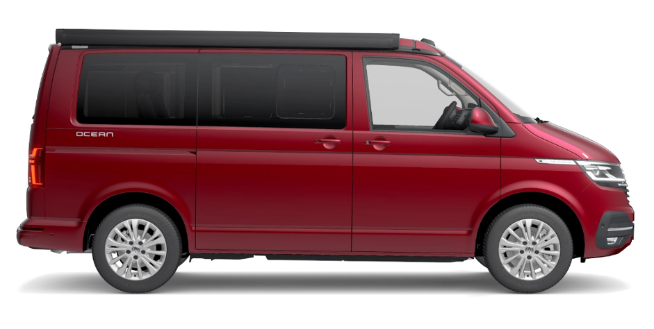 VW California Coast Red Side